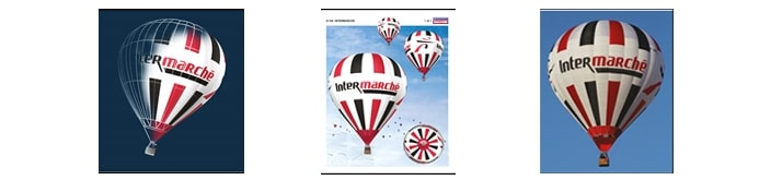 visibilité du logo sur une montgolfière