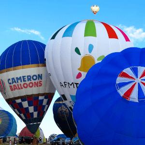 départ montgolfière